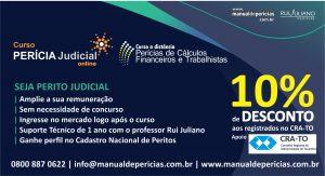 SEJA PERITO JUDICIAL – CURSOS COM 10% DE DESCONTO