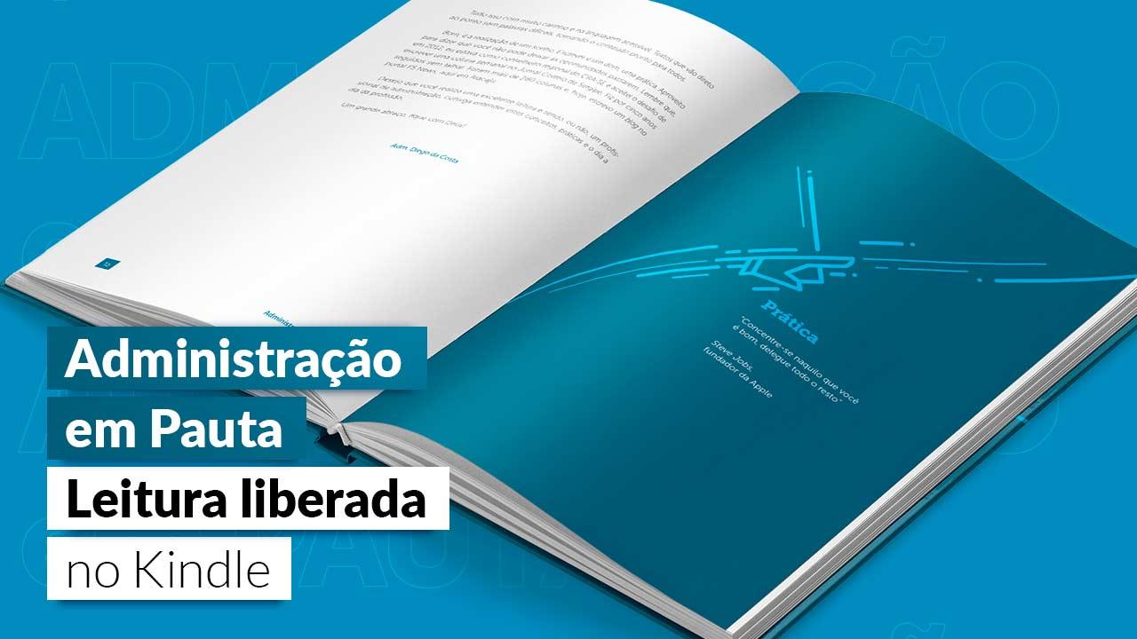 You are currently viewing E-book 'Administração em pauta' pode ser lido gratuitamente na Amazon