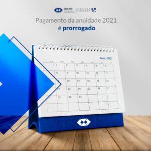Read more about the article Prorrogado vencimento da anuidade 2021 para 31 de maio
