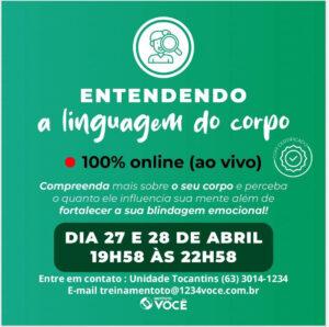 Read more about the article Curso Entendendo a linguagem do corpo – Instituto Você Tocantins