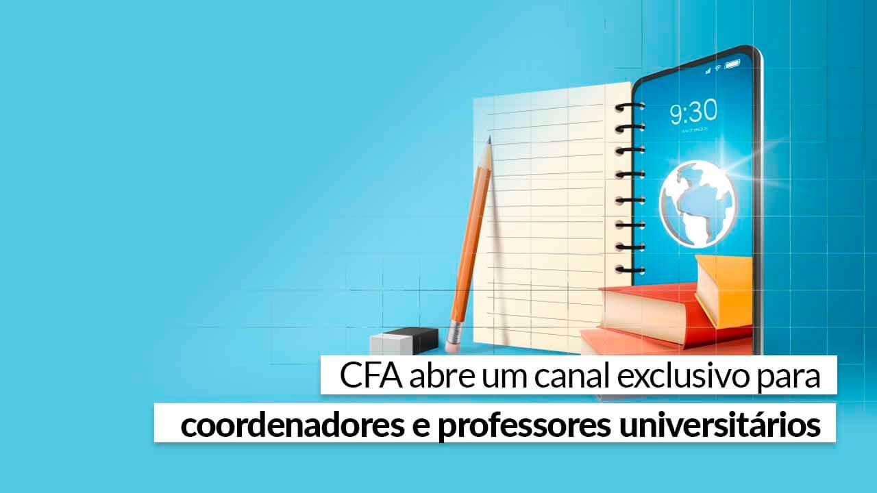 You are currently viewing Faça parte e conheça as iniciativas do Sistema CFA/CRAs para o mundo acadêmico